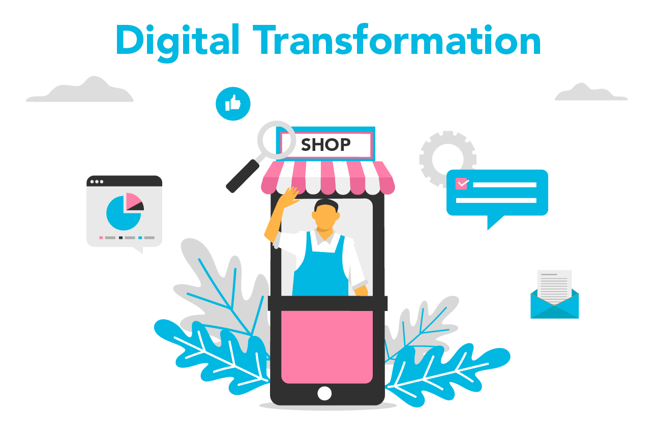 Explain what is digital transformation and how digital transformation changes marketing